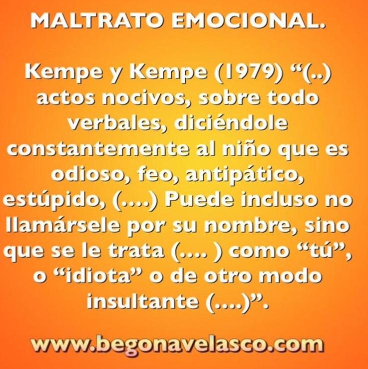 EL MALTRATO EMOCIONAL.