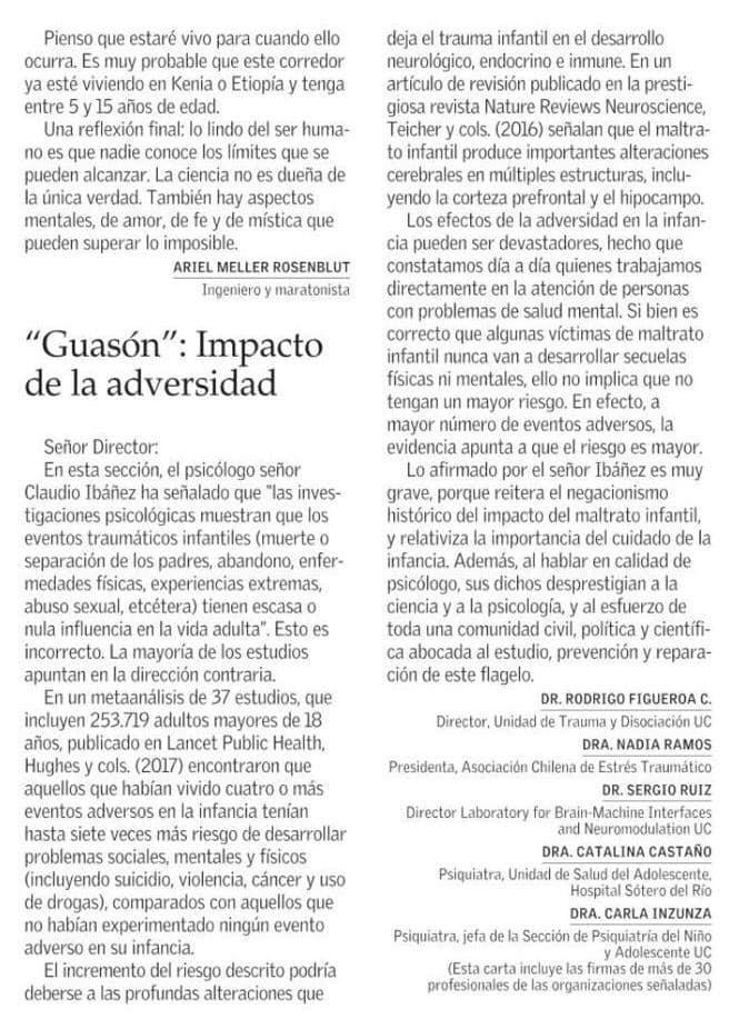 CONSECUENCIAS DEL TRAUMA VIVIDO EN LA INFANCIA.